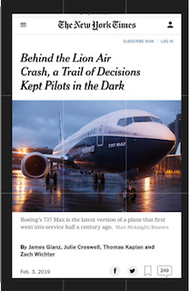 Read more about the article Boeing 737Max and Lion Air 610