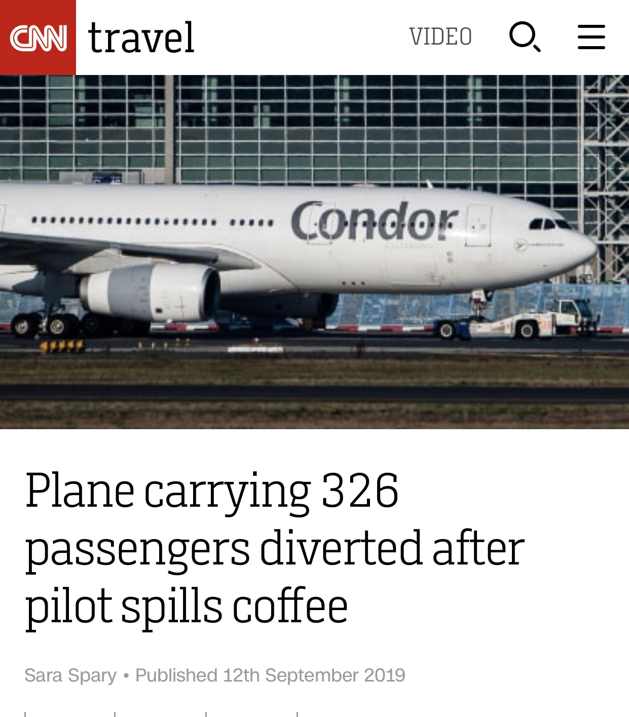 Read more about the article Coffee Mishap on the Flight Deck