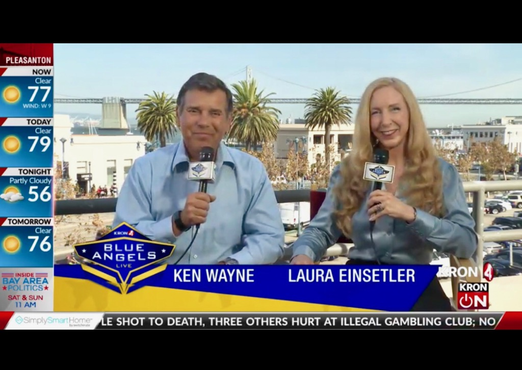 Read more about the article Co-Hosting San Francisco Bay Area's Fleet Week Blue Angels Live Special with KRON 4 News!