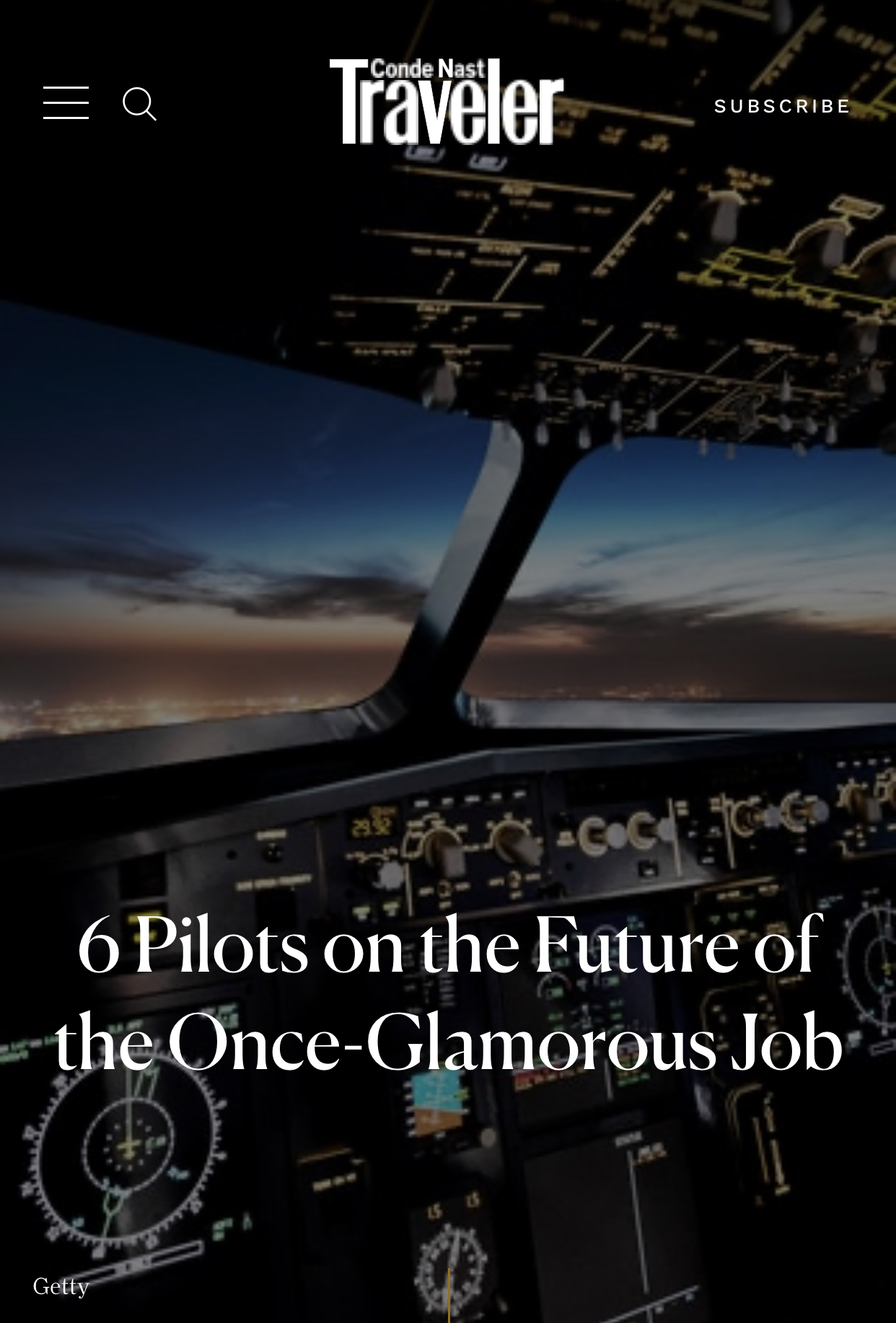You are currently viewing What Pilots Have to Say – Conde Nast Traveler