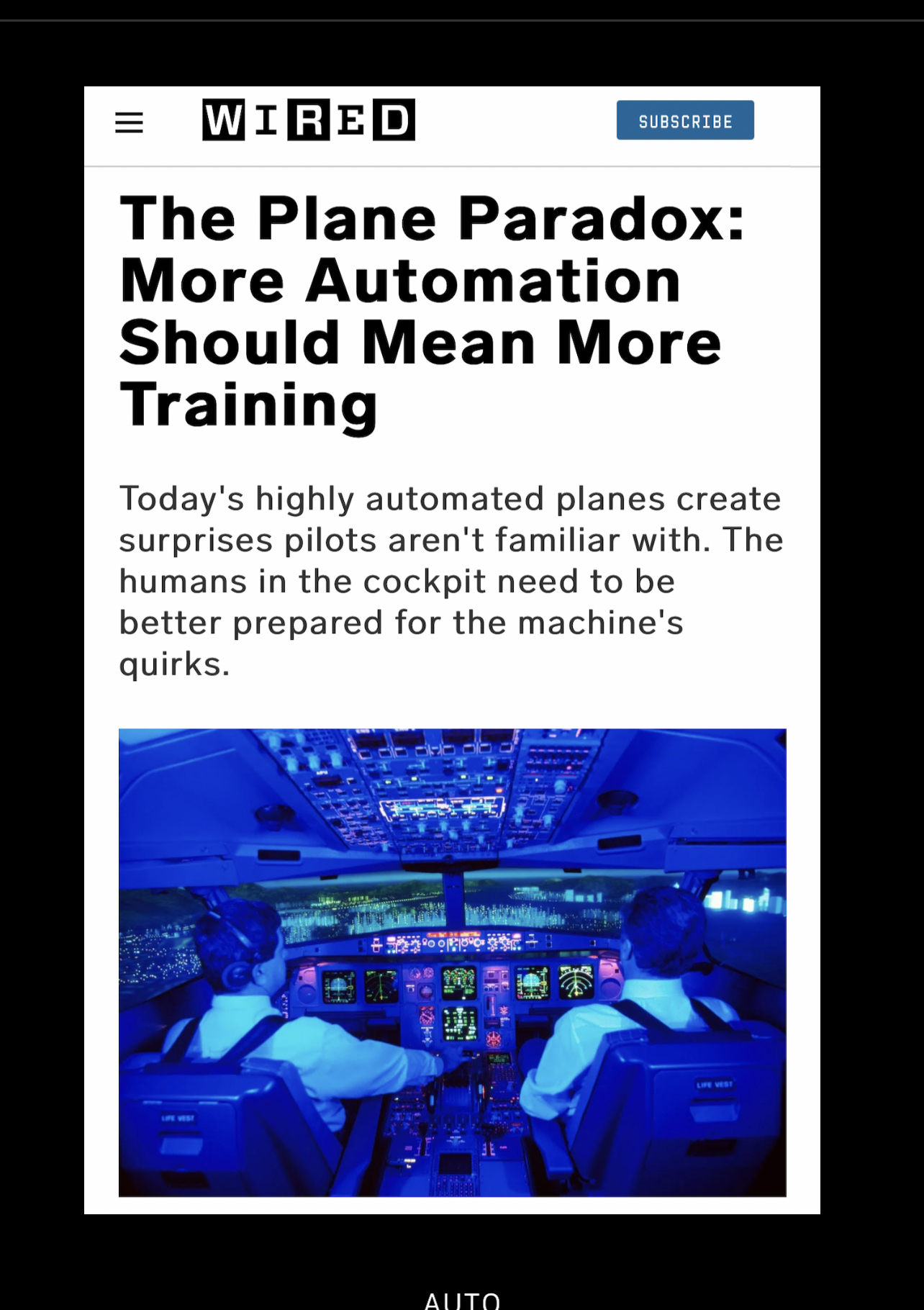 Read more about the article Automation – Need for More Training, not Less
